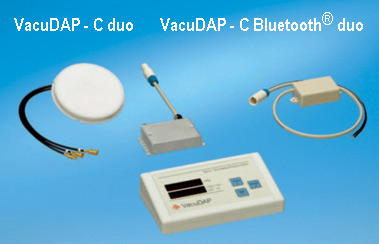 VacuDAP-C duo and VacuDAP-C Bluetooth® duo with display unit