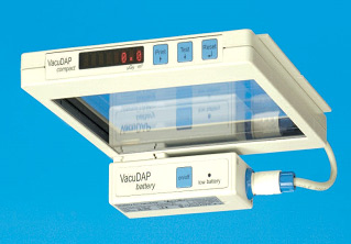 The modular VacuDAP dose-/dose area product measuring System (VacuTec,Germany)